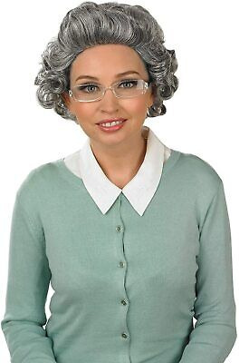 Gran Granny Old Lady Pensioner 3 Piece Fancy Dress Costume Kit Stag Hen Fun Set