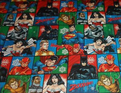 WRAPPING PAPER JUSTICE LEAGUE 3.33FT x 4FT CHRISTMAS BATMAN SUPERMAN CLASSIC