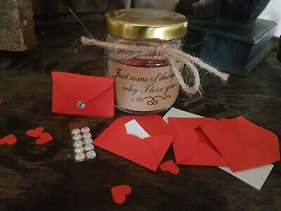 Love Gift Jar 30 Days Of Quotes Date Night Ideas Reasons I Love You Diy 12 99 Picclick Uk
