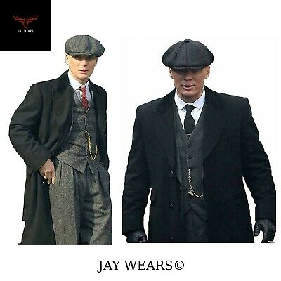 Men S Peaky Blinders Thomas Shelby Wool Long Trench Coat 79 99 Picclick Uk