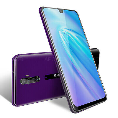 6.3 Inch Cheap Unlocked Android 9.0 Mobile Smart Phone 2SIM Quad Core Phablet