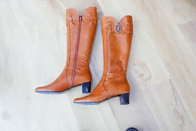 Bruno Magli Gouin Tan Ladies Leather Boots New in Box