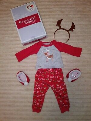 Authentic AMERICAN GIRL DOLL FESTIVE REINDEER PJ/'S PAJAMAS CLOTHES NEW Kailey