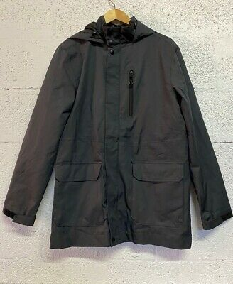 Goodfellow /& Co™ Black NWT Med Men/'s Relaxed Fit Hooded Rubberized Rain Jacket