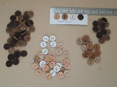 Large lot of leather buttons for reenactment      (P348)