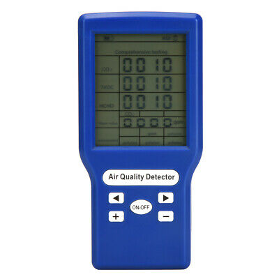 Gas Analyzer Multifunctional 5V 1A Combustible Gas Monitor LCD Display For