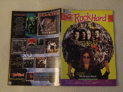ROCK HARD Nr. 103 1995 Ozzy Anthrax Blind Guardian Shelter Böhse Onkelz + Poster