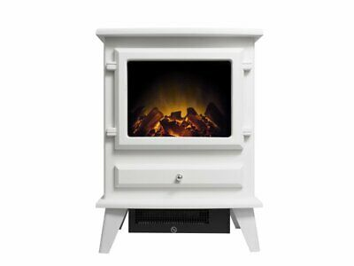 RRP £425 SELLING AT £220.00 AURORA WALL MOUNTED ELECTRIC STOVE WITH FALSE PIPE