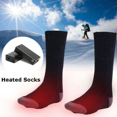 Electric Heated Socks Battery Powered 4.5V Foot Winter Warm Skiing Hunting V9Z3