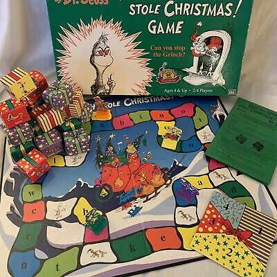 1997 How the Grinch Stole Christmas Game by University Games Complete Great Cond