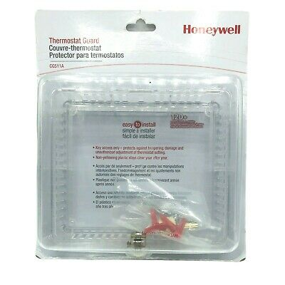 Medium Thermostat Guard Clear Plastic Cover with Key and Lock Function 1 Pack