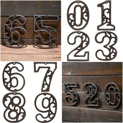Wall Decor Door Number House Address Wrought Iron Numerals Iron Cast Numbers