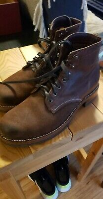 Wolverine Men/'s Evans 1000 Mile Boots Two Tone Brown Leather//Suede W40556