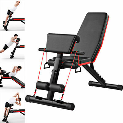 Fitness Black Adjustable Foldable Dumbbell Weight Bench Gym Body Building Gym UK