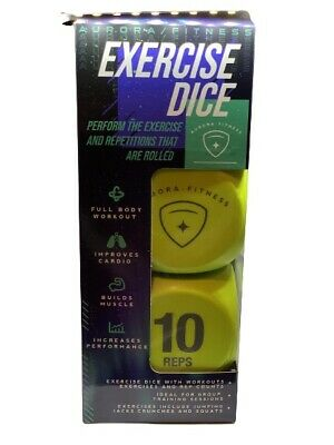 Exercise Dice Full Body Workout Fitness Training Game Gym