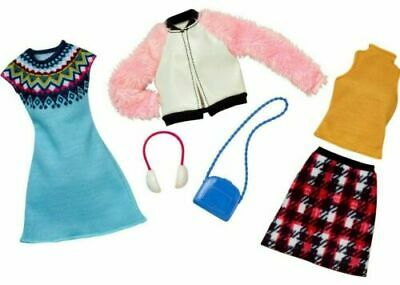 Barbie Clothing 2 Fashions Pack Pink Jacket Skirt Dress Top Casual Outfit