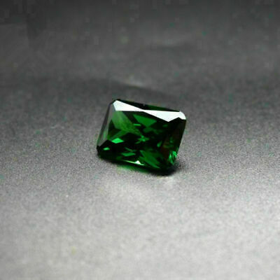 Natural Mined Colombia Green Emerald 10x14mm 11.52ct Emerald Cut VVS AAA Gems