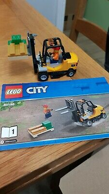 Lego Genuine City Cargo Forklift Truck Bank Gold Pallet Minifigure from 60198