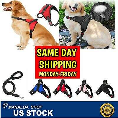 Dog Harness Adjustable No Pull Dog Vest Harness with Handle Reflective XS S M L