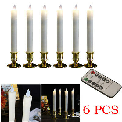 6Pcs LED Candles Battery Operated Flickering Candles Candles LED Window Taper