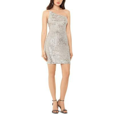NW Nightway Womens Sequined Sleeveless Party Cocktail Dress Petites BHFO 1069