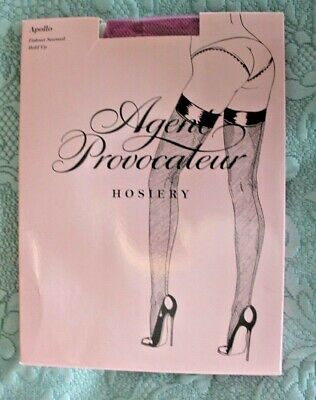 L/'AGENT By AGENT PROVOCATEUR Seam /& Heel Stocking Nude//Red BNIP Size M BNWT