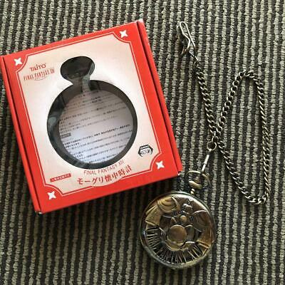 TAITO Final Fantasy XIV Pocket Watch Gold Moogle With Box For SUARE ENIX Japan