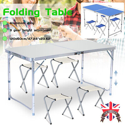 4Ft Heavy Duty Folding Table Portable Plastic Camping Garden Party Catering Bbq