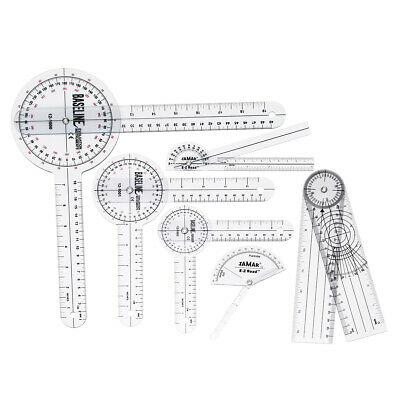 6pcs Medical Spinal Ruler 12/8/6 inch Set Goniometer Angle Protractor 36