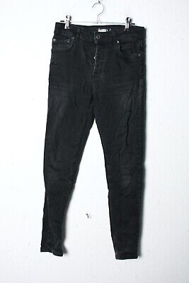 Asylum Boys Black Skinny Washed Out Denim Jeans - Age 12 13 Years (L-JJ8)