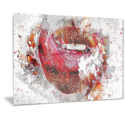 Self adhesive Door Wall wrap removable Peel /& Stick Decal Sensuality Red lips