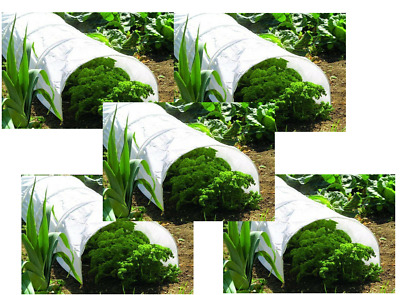 5 x Garden Traditional Fleece Grow Poly Tunnel Plant Protection 3m Cloche N200