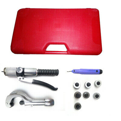 """New Aluminum Alloy Hydraulic Tube Expander Kit 1/4′to1-5/8"""" O.D.tubing Red Box"""