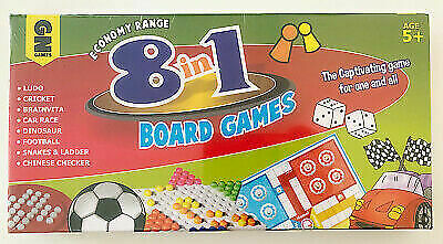 8 in 1 Classic Traditional Family Board Games Kids Childrens Indoor Gift Toys