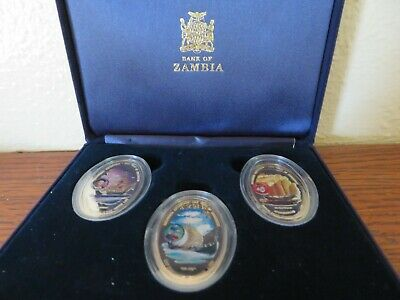 bank of zambia 2000 1000 kacha 1000 years of exploration coins set of 6