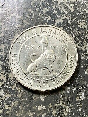 1973 Paraguay 300 Guaranies Lot#Z7692 Large Silver Coin! High Grade! Beautiful!