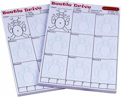 50 sides Family Christmas Fun Beetle Drive Score Sheets DOUBLE SIDED 25 sheets