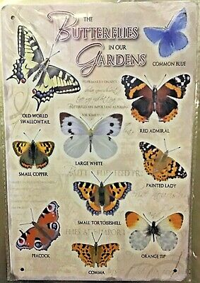 Set of 2 Garden Collection Plant Tin Butterfly Black Metal S Hook -select color