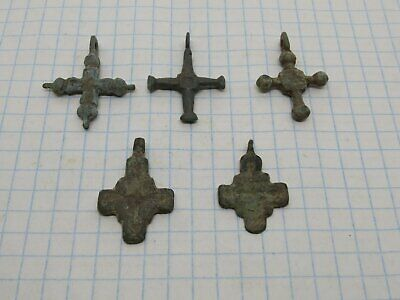 Ancient bronze crosses Viking Kievan Rus 10-12 century - 5 psc.