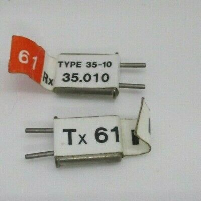FUTABA   CHANNEL 74 TX AND RX DUEL  CONVERSION CRYSTALS 35MHZ  GOOD CONDITION