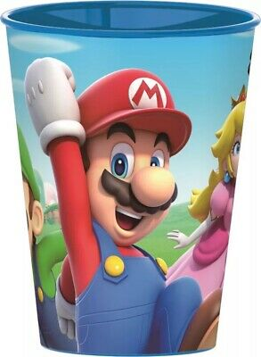SUPER MARIO BROS Becher Kinder SUPER MARIO Trinkbecher Plastikbecher ca.260 ml
