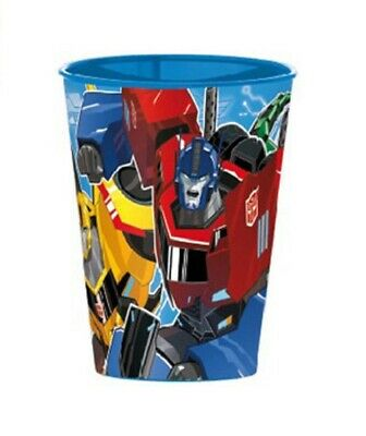TRANSFORMERS Becher Kinder Trinkbecher TRANSFORMERS Plastikbecher blau ca.260 ml