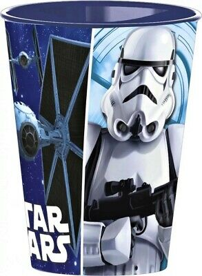 Disney World STAR WARS Becher Kinder Trinkbecher Plastikbecher blau ca.260 ml