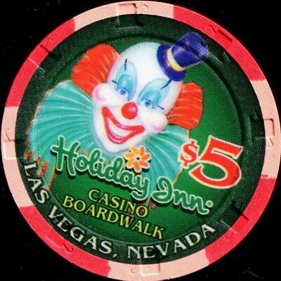$5 Las Vegas Holiday Inn Boardwalk Jacko the Clown Casino Chip - UNCIRCULATED