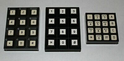 3 Grayhill 16 Button Keypads Number Pads 84AA1-102, 84S-AB2-112, 83BB1-005