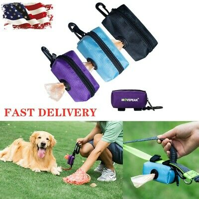 Dog Picking Up Poop Bag Garbage Storage Travel Pet Waste Poo Bags Dispenser US