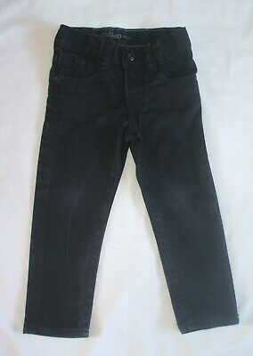 Boys black denim jeans with adjustable waist from Baby Gap, age 3 years
