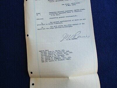 1929 U.S.S. Lexington Signed Admiral Reeves (father of Carrier Aviation) letter!