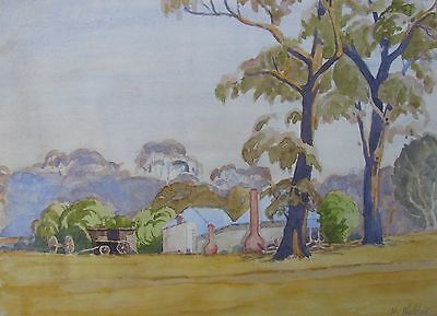 "Howard Webber Australian Wc ""Old Farm House Knowsly Victoria"" C 1960 A"