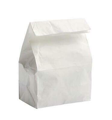 Concession Essential - 4lb White Paper Bags - Pack of 200 Count - Includes 2 Bon